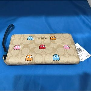 Coach Ms. PAC Man Signature Wallet